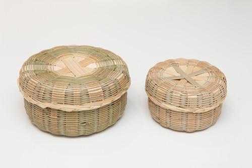 60年以上の歴史を持つ竹細工の名匠の作竹かごNam、Sang-bo(全羅南道)小29,000ウォン 中35,000ウォン