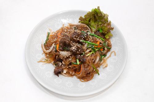 チャプチェ20,000ウォン韓国醤油で味付けした春雨の炒め物。甘辛い味でご飯との相性も抜群。