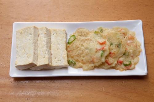 豆腐チヂミ、キノコと野菜のチヂミ