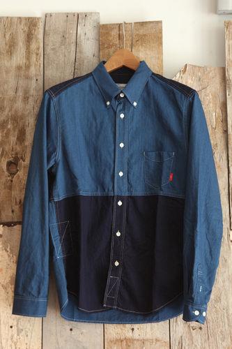 生地の切り替えがクールなシャツ(COVERNAT・韓国) 89,000ウォン
