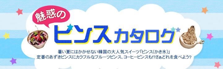 魅惑のピンスカタログ暑い夏にはかかせない韓国の大人気スイーツ「ピンス(かき氷)」定番のあずきピンスにカラフルなフルーツピンス、コーヒーピンスも!?さぁどれを食べよう?
