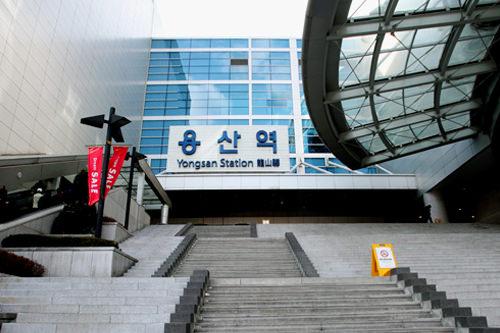 龍山駅地下鉄1号線・電鉄中央線 乗換可