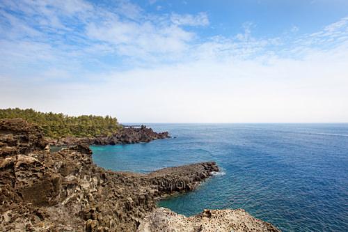 済州島の海