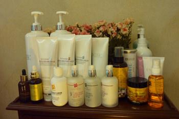 韓国のエステ店専用製品とドイツ製の基礎化粧品を使用