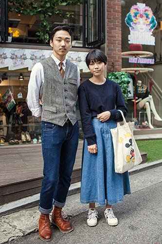 カロスキルお散歩レトロ感漂うファッションが二人の雰囲気にぴったり ジュノさんカップル9/29 カロスキル