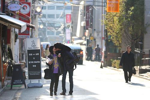 街中でキスを目撃することもしばし