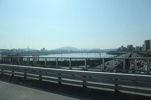 漢南大橋からの眺め