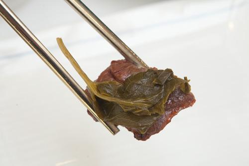 程よい酸味が肉の旨さを引き立てる