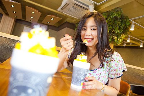 「ソルビン」 マンゴーココソルビンゴ (あみか)一番美味しかったです!長い間持ち歩いて食べても、最後まで溶けにくく高得点!味もココナッツミルクが濃厚でマンゴーとチーズケーキにぴったりでした~!これは、本当に夏の間リピートして食べたいです!