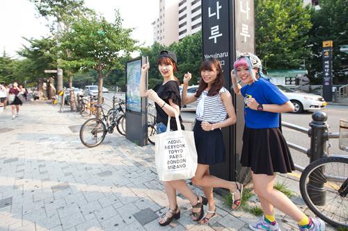 漢江チメッ大好きな3人!留学生りな・いくみ・あずさ