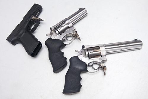 VARAETY 30発セット9mm半自動拳銃+38口径+375MAGNUM3種の異なる銃を体感!数種の銃を味わってみたいという人に