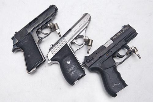 SPY 30発セットWALTHER PK380+SIG SAUER P232+GLOCK19スパイも使う小型拳銃3種をお試し!女性やビギナーにお薦め