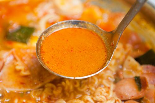 すっきりとしたスープ