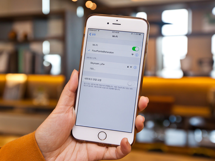 Wi-Fiは無料、速度も問題なし