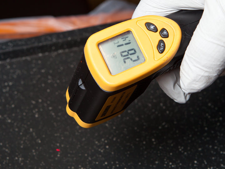 ロースターの温度を確認