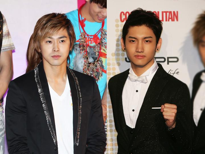 2人とも入隊した東方神起(左からユンホ、チャンミン)