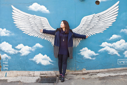 「1泊2日」でイ・スンギが写真をとったことで有名になった羽の壁画
