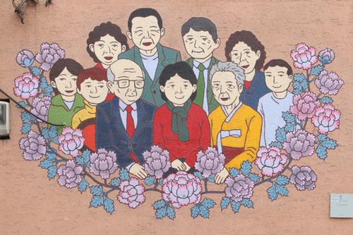 ソウル東部のカンプル漫画通り>>