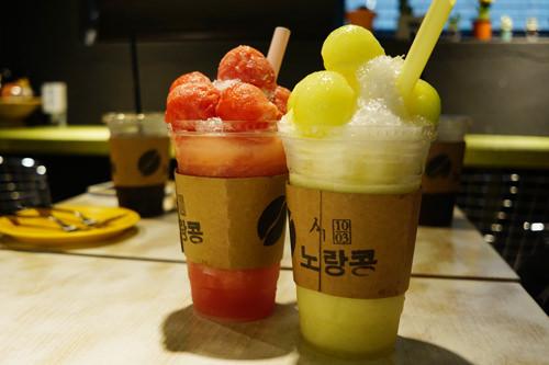 左からスイカトップジュースとメロントップジュース ※写真提供:「ノランコン」
