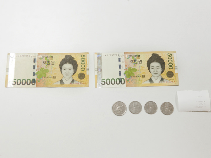 100,800ウォン(1008.00)