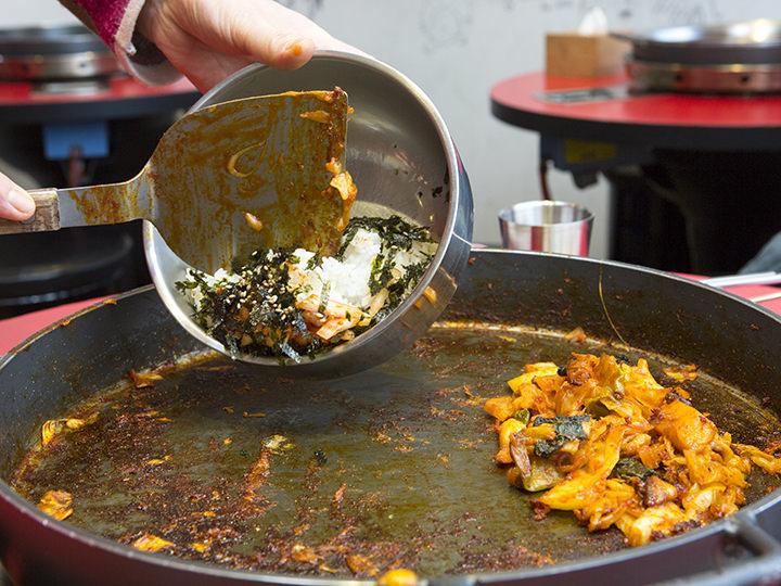 タッカルビを少し残した状態で焼き飯を作るのがベスト
