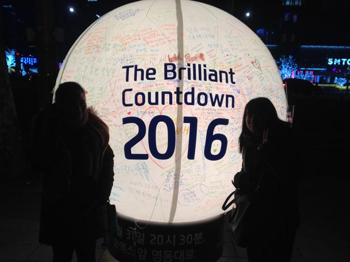 初めて行った韓国でのカウントダウンin江南(カンナム)。コンサートでPSYも見ることができ、すごく楽しかったです。韓国人の派手な盛り上がり方には圧倒されました(笑)。
