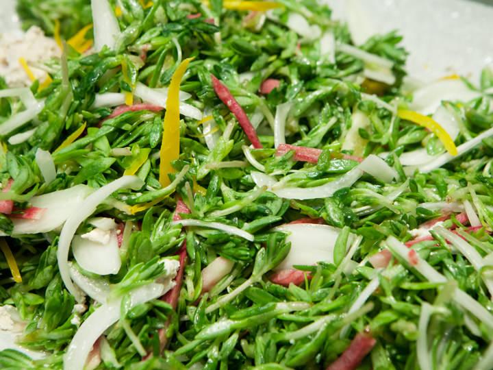 新メニューの済州(チェジュ)が伝える春サラダ