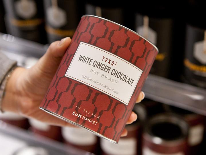 東方神起のホワイトジンジャーチョコレート4,980ウォン