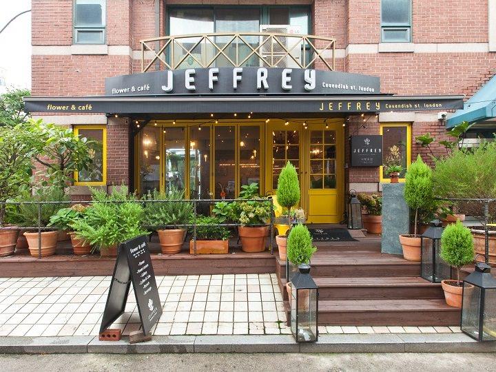 フラワーカフェ「JEFFREY Cauendish st. london(ジェフリー・ケーベンディッシュ・ロンドン)」