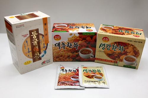 トゥングルレ(ユリの根)茶、ナツメ茶、ショウガ茶などの漢方茶