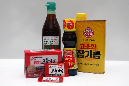 袋入りで便利なコチュカル(トウガラシの粉)香ばしいごま油