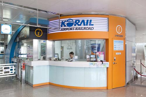 コネストで直通列車を予約した場合は改札横の案内センターでバウチャーを交換