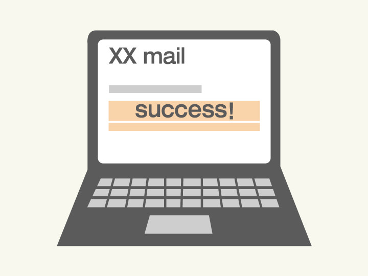FINISH 送金完了送金完了時、メールにてご通知します。お客様専用ページでも送金処理状態をご確認いただけます。